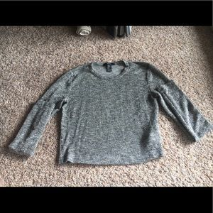 Sparkly crop long sleeve